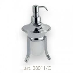 Serie Accessori DAMA con STRASS Appoggio Dispenser (Cromo / Vetro)