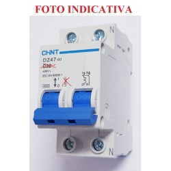 INTERRUTTORE MAGNETOTERMICO DZ47-60 1Polo+N  6A  4,5kA CURVA C (2Moduli)