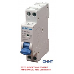 INTERRUTTORE MAGNETOTERMICO NBH8-40 1Polo+N 10A  4,5kA CURVA C (1Modulo)