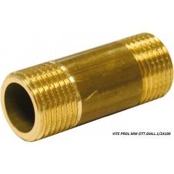 """VITE Prolungata MM 1/2""""x100mm OTTONE Giallo"""