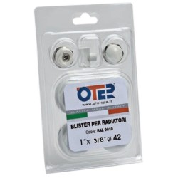 "KIT per RADIATORI 1""x3/8"" Ø 42mm BIANCO RAL 9010"