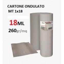 CARTONE ONDULATO MT 1x18  MONOFOGLIO a ROTOLO 260gr/MQ