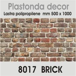 Plastonda decor BRICK (8017) PANNELLO DECORATIVO cm 50x100 (Confezione da 15pz)