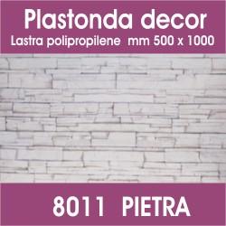Plastonda decor PIETRA (8011) PANNELLO DECORATIVO cm 50x100 (Confezione da 15pz)
