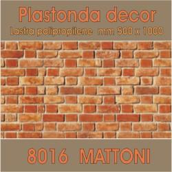 Plastonda decor MATTONI (8016) PANNELLO DECORATIVO cm 50x100 (Confezione da 15pz)