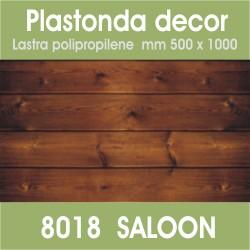 Plastonda decor SALOON (8018) PANNELLO DECORATIVO cm 50x100 (Confezione da 15pz)