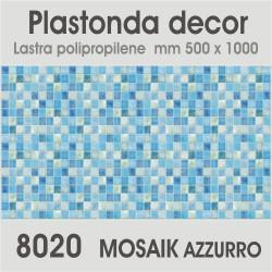Plastonda decor MOSAIK AZZURRO (8020) PANNELLO DECORATIVO cm 50x100 (Confezione da 15pz)