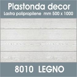 Plastonda decor LEGNO (8010) PANNELLO DECORATIVO cm 50x100 (Confezione da 15pz)