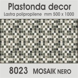 Plastonda decor MOSAIK NERO...