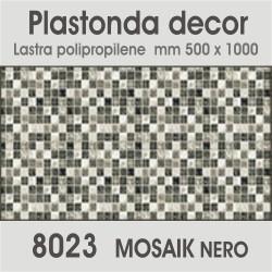 Plastonda decor MOSAIK NERO (8023) PANNELLO DECORATIVO cm 50x100 (Confezione da 15pz)