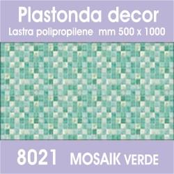 Plastonda decor MOSAIK VERDE (8021) PANNELLO DECORATIVO cm 50x100 (Confezione da 15pz)
