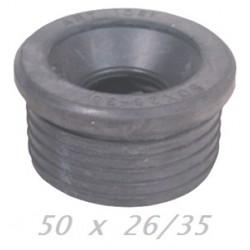 MORSETTO GOMMA NERA 50x26-35 PP (per scarichi / curve Tecniche)