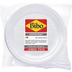 BIBO - BIBO 100 PIATTI FONDI Ø 205mm in PLASTICA BIANCA - a soli 3,40€ su FESEA online - fesea.shop