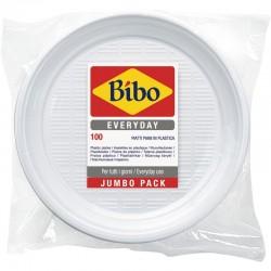BIBO - BIBO 100 PIATTI PIANI Ø 205mm in PLASTICA BIANCA - a soli 3,40€ su FESEA online - fesea.shop