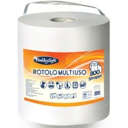 BULKYSOFT - BOBINA CARTA MULTIUSO 800 STRAPPI 2 VELI ASCIUGATUTTO - a soli 5,50€ su FESEA online - fesea.shop