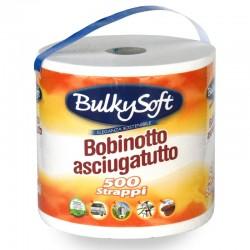 BULKYSOFT - BOBINETTA CARTA CUCINA MULTIUSO 500 STRAPPI 2 VELI ASCIUGATUTTO - a soli 2,60€ su FESEA online - fesea.shop