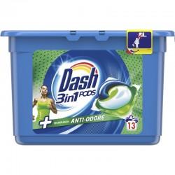 DASH - DASH PODS 3in1 ECODOSI Detersivo Bucato Lavatrice ANTI-ODORE 13pods - a soli 4,60€ su FESEA online - fesea.shop