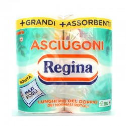 REGINA - REGINA CARTA CUCINA ASCIUGONI MAXI FOGLI 200Strappi 2VELI 2Rotoli - a soli 2,60€ su FESEA online - fesea.shop