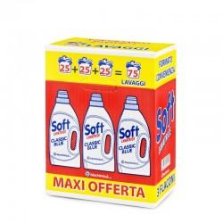 SOFT - Confezione 3pz da 1625ml SOFT DETERSIVO LIQUIDO BUCATO LAVATRICE CLASSIC BLUE - a soli 5,50€ su FESEA online - fesea....