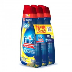 FINISH - Confezione 3pz da 650ml FINISH GEL CONCENTRATO LEMON 32+32+32-96Lavaggi - a soli 12,00€ su FESEA online - fesea.shop