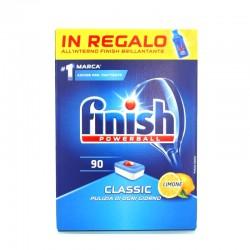 FINISH - FINISH PASTIGLIE POWERBALL CLASSIC LEMON+ FINISH BRILLANTANTE (all'Interno) 90Lavaggi - a soli 13,20€ su FESEA onli...