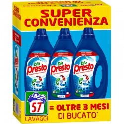 BIO PRESTO - Confezione 3pz da 950ml 57 Lavaggi BIO PRESTO DETERSIVO LIQUIDO LAVATRICE BLU CLASSICO - a soli 7,40€ su FESEA ...