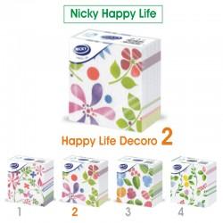 NICKY - TOVAGLIOLI DECORO D2 33x33 1 VELO NICKY HAPPY LIFE 70pz - a soli 1,50€ su FESEA online - fesea.shop