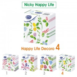NICKY - TOVAGLIOLI DECORO D4 33x33 1 VELO NICKY HAPPY LIFE 70pz - a soli 1,50€ su FESEA online - fesea.shop