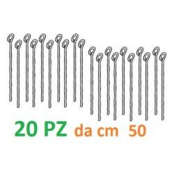 PENDINO OCCHIELLO CHIUSO Ø 4 mm da cm  50 (KNAUF Art. 3419)Per CARTONGESSO Blister da 20pz