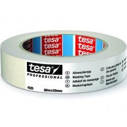 tesa - NASTRO CARTA TESA 25mm Art. 04325-00001 (50m x 25mm) MASCHERATURE PROFESSIONALI 50Metri x Larghezza 25mm