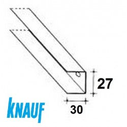 GUIDA  U27/30 PERIMETRALE MT/3 (30/27/30) 6/10 Per CARTONGESSO (KNAUF)