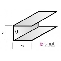 GUIDA DC300 U30/28 MT3 SINIAT  (29x29x29) sp. 6/10 lung. 300 Per Cartongesso Nuovo Codice SAP: 117243  Vecchio Codice: DC300