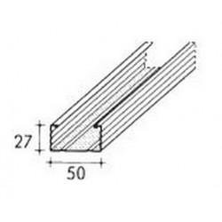 MONTANTE  C50/27 PLUS MT/3 (27/48/27) Sp. 6/10 Per CARTONGESSO (KNAUF)