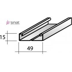 MONTANTE AG300  C50/15 MT3 (15/49/15) Spes.re 6/10 (CLI4915) Per Cartongesso
