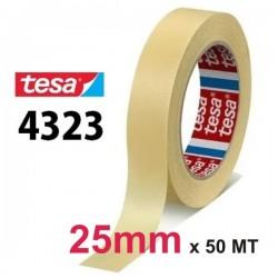 NASTRO CARTA TESA 25mm - 50MT CARTA ADESIVA 4323 MASCHERATURA UNIVERSALE