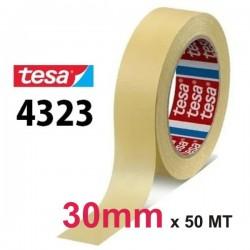 NASTRO CARTA TESA 30mm - 50MT CARTA ADESIVA 4323 MASCHERATURA UNIVERSALE