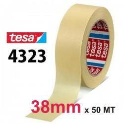 NASTRO CARTA TESA 38mm - 50MT CARTA ADESIVA 4323 MASCHERATURA UNIVERSALE