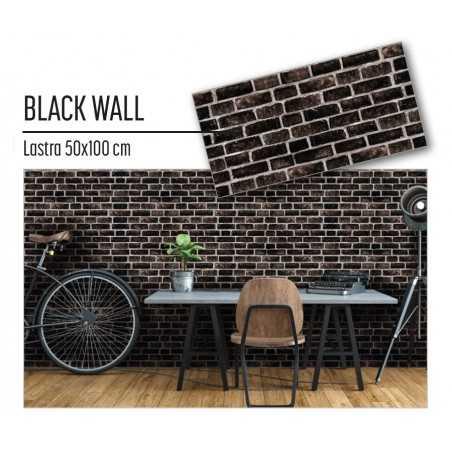 Plastonda decor BLACK WALL (8032) PANNELLO DECORATIVO cm 50x100