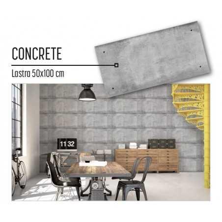 Plastonda decor CONCRETE (8027) PANNELLO DECORATIVO cm 50x100