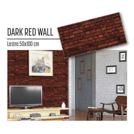 Plastonda decor DARK RED WALL (8031) PANNELLO DECORATIVO cm 50x100