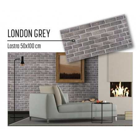 Plastonda decor LONDON GREY (8030) PANNELLO DECORATIVO cm 50x100