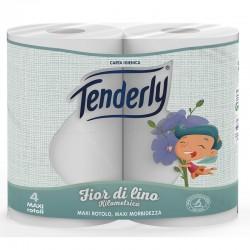 TENDERLY - TENDERLY CARTA IGIENICA FIOR DI LINO Kilometrica 2Veli 4Rotoli - a soli 2,40€ su FESEA online - fesea.shop