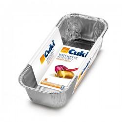 CUKI - CUKI VASCHETTE ALLUMINIO doppia forza (R60G) PLUM CAKE per 4porzioni LT 0,8 (cm 23,8x10x5) 5pezzi - a soli 1,50€ su F...