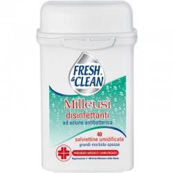 FRESH & CLEAN - SALVIETTE MILLEUSI DISINFETTANTI ad azione antibatterica 40pz FRESH&CLEAN Presidio Medico Chirurgico - a soli...