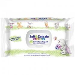 SOFT & DELICATE - SOFT & DELICATE SALVIETTE BABY da 72pz con COPERCHIO - a soli 1,20€ su FESEA online - fesea.shop