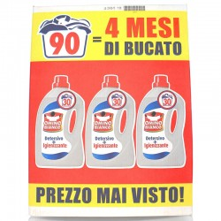 OMINO BIANCO - OMINO BIANCO IGIENIZZANTE DETERSIVO BUCATO LAVATRICE LIQUIDO 3pz1500ml x 30Lavaggi TOTALE 90Lavaggi - a soli 9...