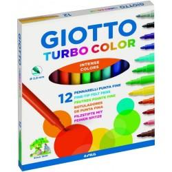 GIOTTO FILA - GIOTTO TURBO COLOR 12pz - a soli 1,90€ su FESEA online - fesea.shop