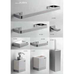 Accessori Bagno Serie RUBEN Kit 8pz RUBEN cromo
