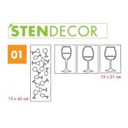 STENDECOR 01 - SERIE BICCHIERI confezione 7pz