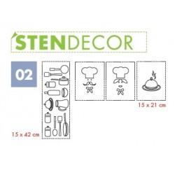 STENDECOR 02 - SERIE PENTOLE confezione 7pz